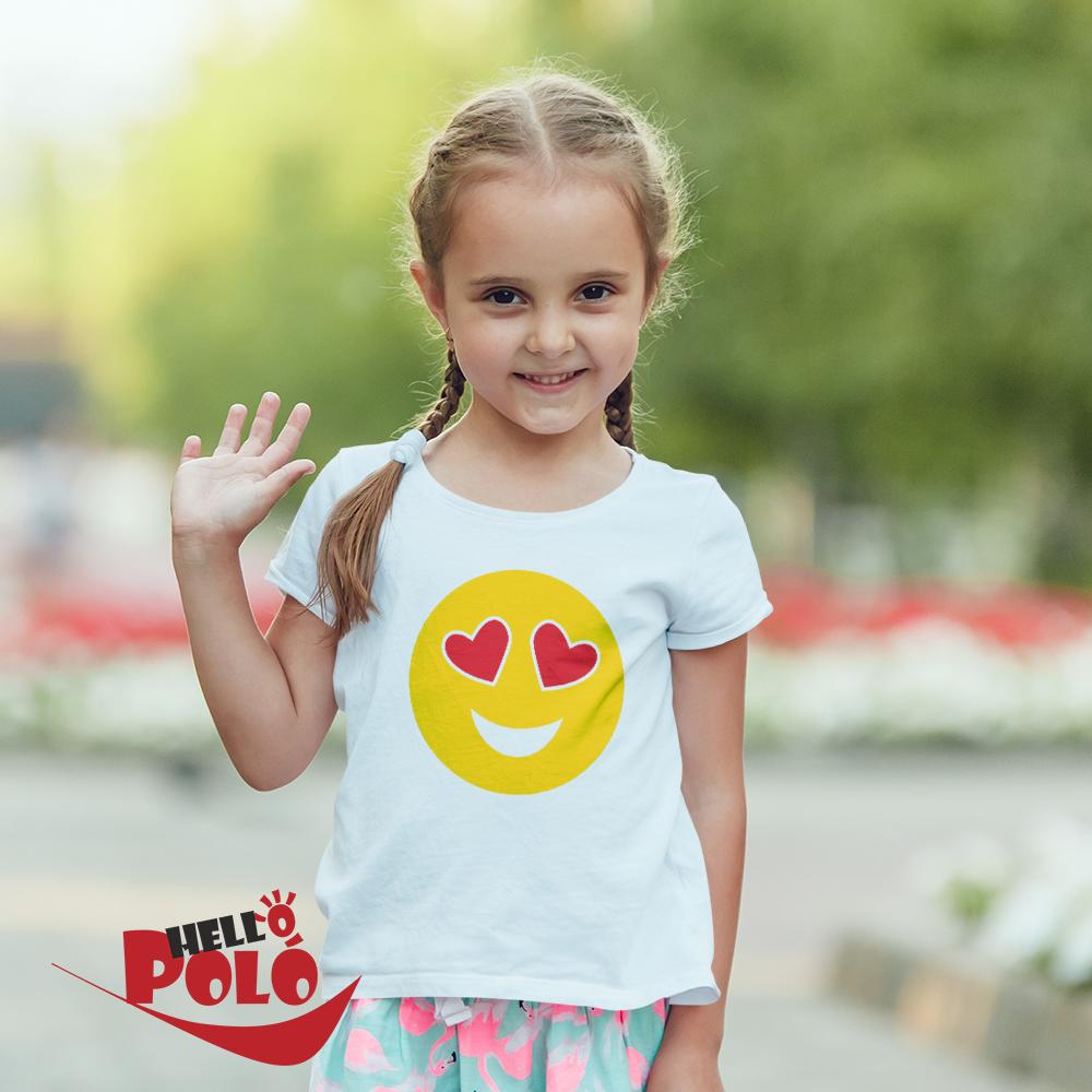 2add2462e3 Helló póló. Smiley, Emoji gyerek póló